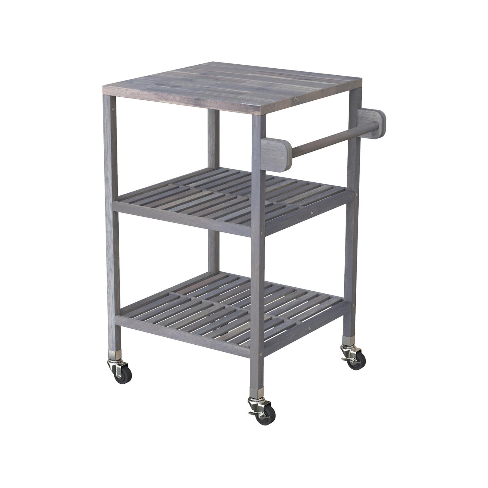 Interbuild 52 x 52 x 85cm Dusk Grey Holger Quattro Kitchen Cart
