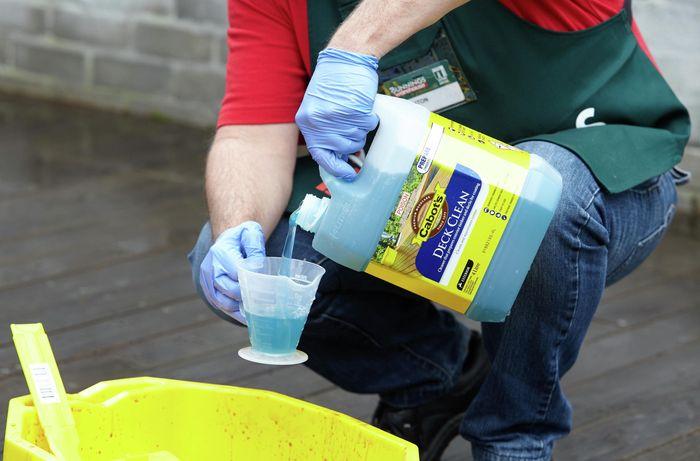 DIY Step Image - How to clean a deck. Blob storage upload.