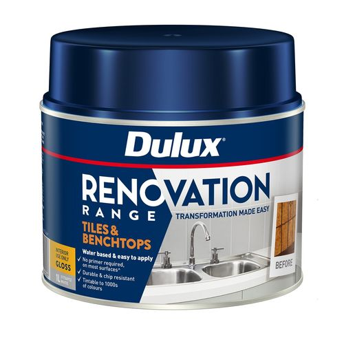 Dulux 1L Renovation Range Tiles & Benchtops Gloss White