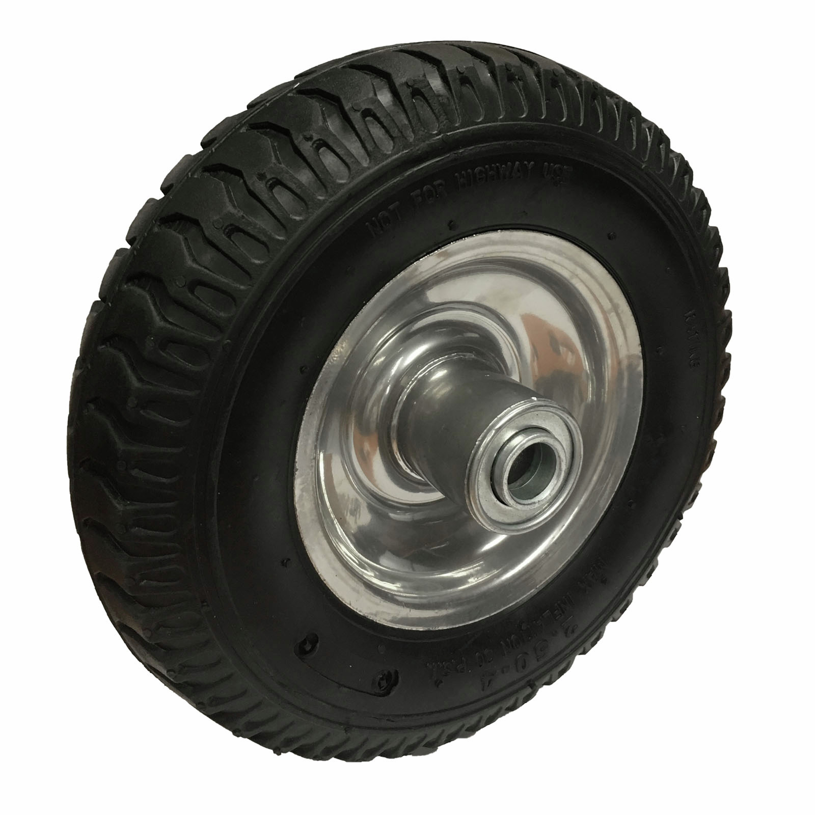 """Move It 5/8"""" 250 x 4 Bearing With Offset Steel Hub Pneumatic Wheel"""