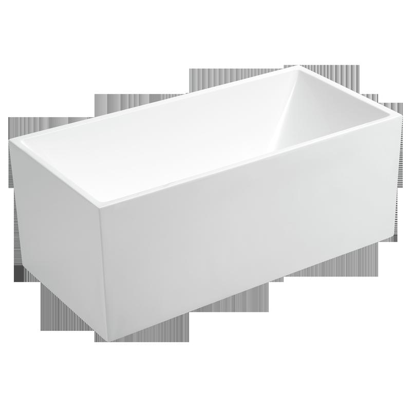 Rococo 1700 x 750 x 600mm Square Edge Freestanding Bath