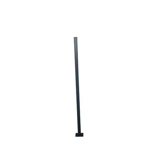 Protector Aluminium 50 x 50 x 1600mm Black Flanged Fence Post With Cap