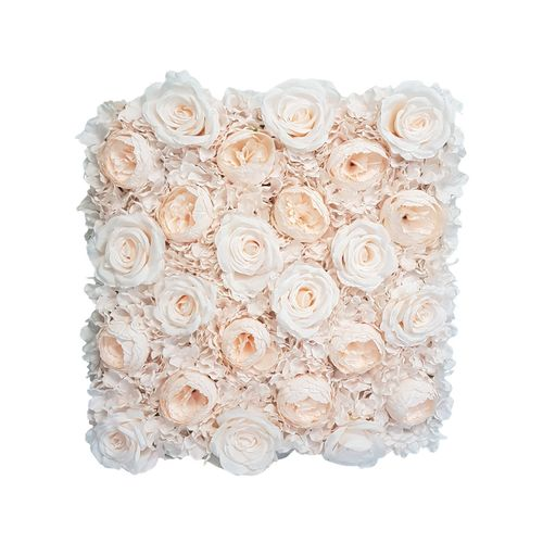 Unreal 50cm Blush Flower Artificial Wall Tile