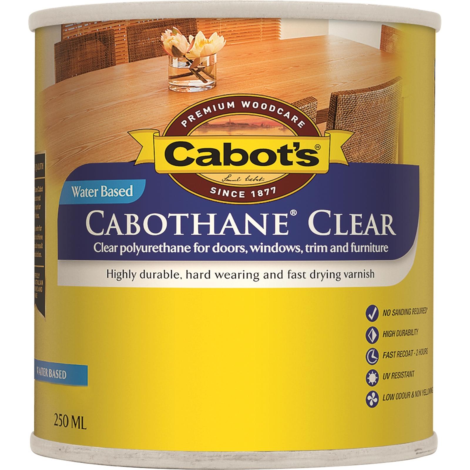 Cabot's 250ml Clear Water Based Cabothane Interior Varnish Matt