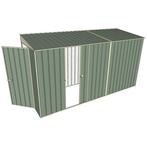 Build-A-Shed 1.2 x 3.7 x 2.0m Zinc Skillion Single Sliding Side Door Shed