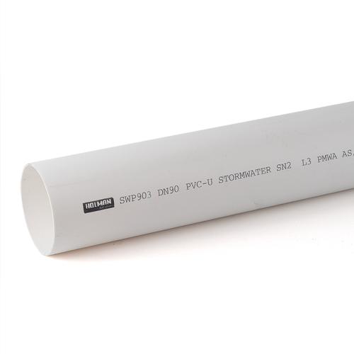 Holman 90mm x 3m PVC Stormwater Pipe