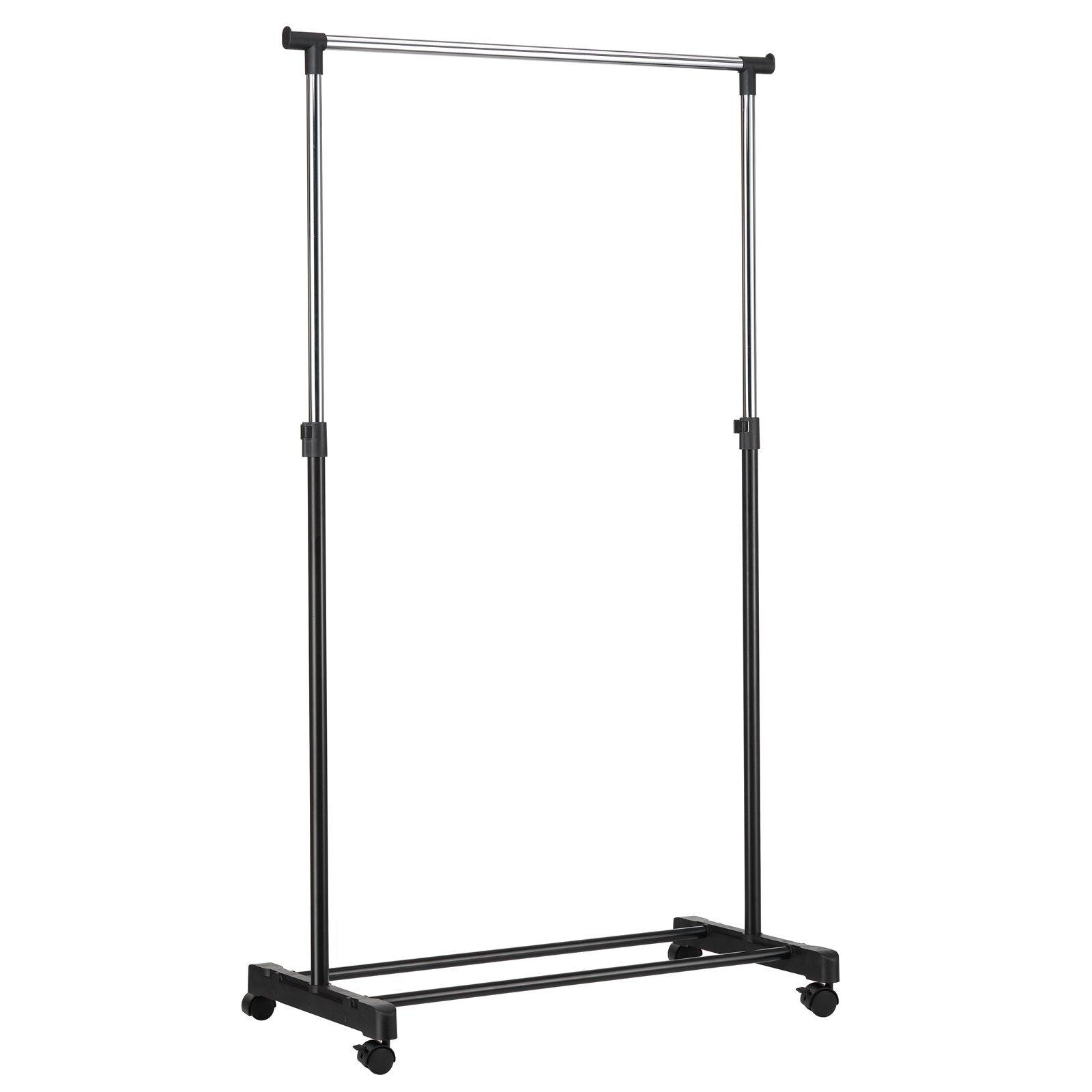 All Set 84 x 41.5 x 101-167cm Single Bar Adjustable Height Garment Rack