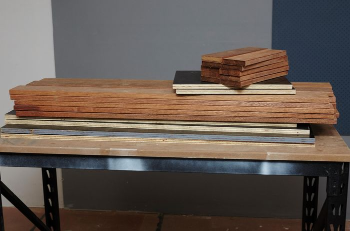 An assortment of timber required to complete this project