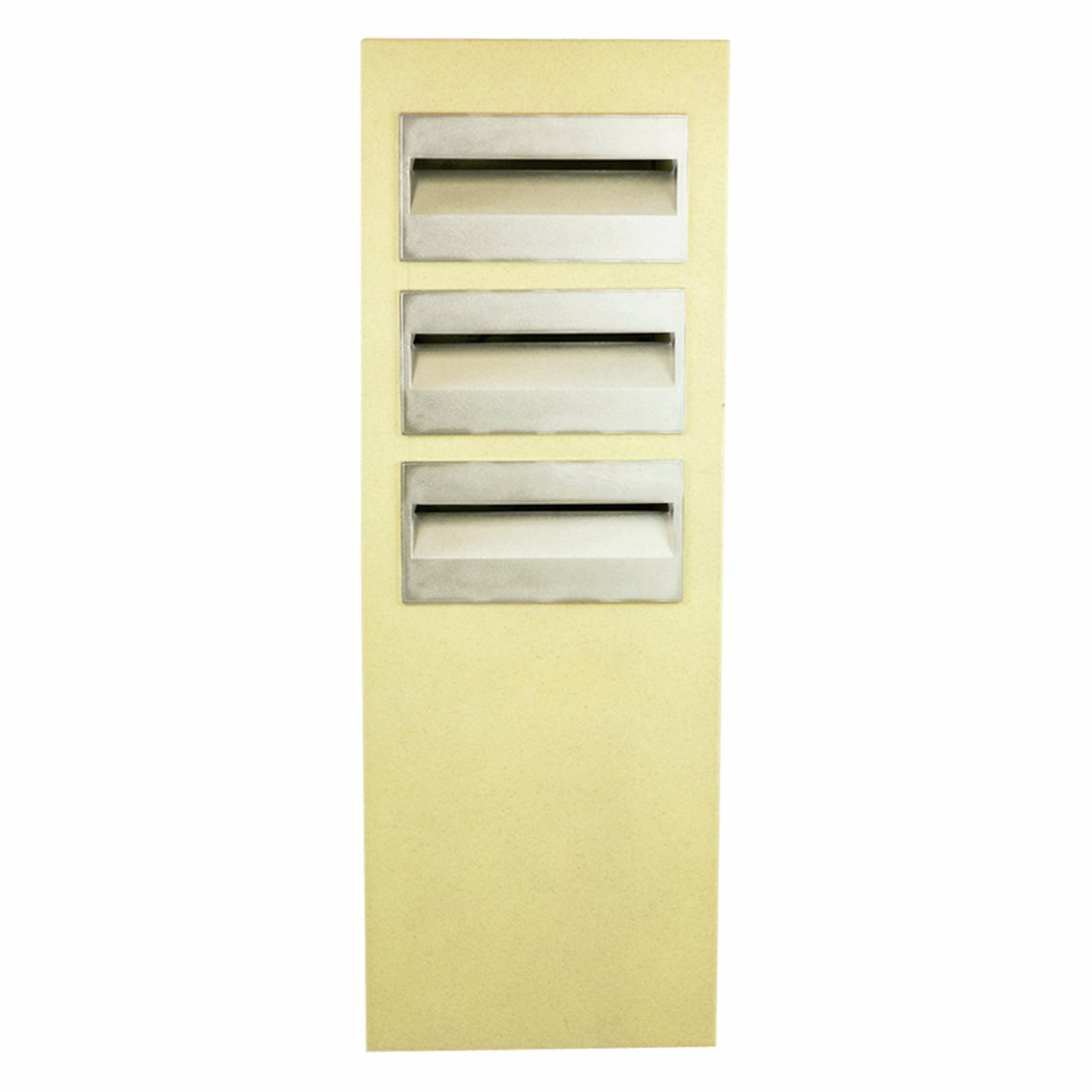 Letterbox Pillar Polytek Triplex L1051key