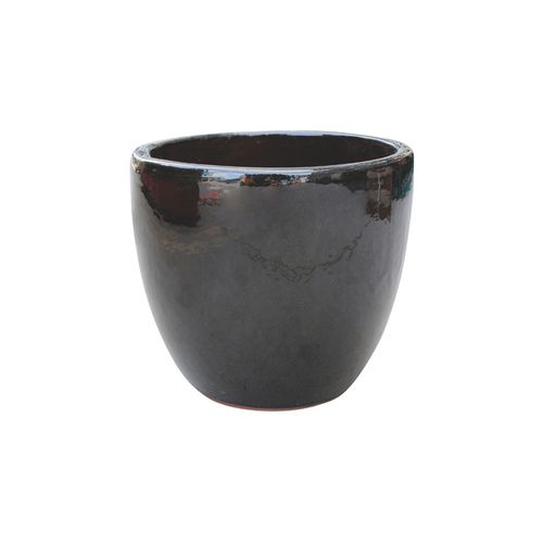 Northcote Pottery 28cm Primo Mod Egg Glazed Pot - Black