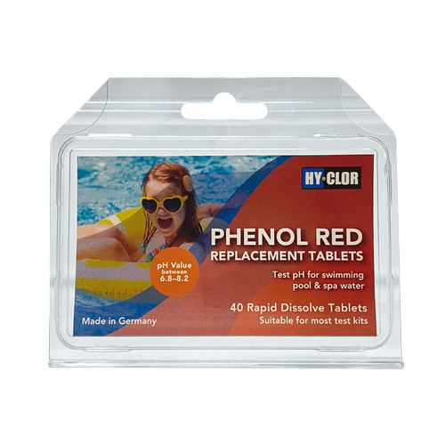 Hy-Clor Phenol Red Rapid Dissolve Tablets - 40 Pack