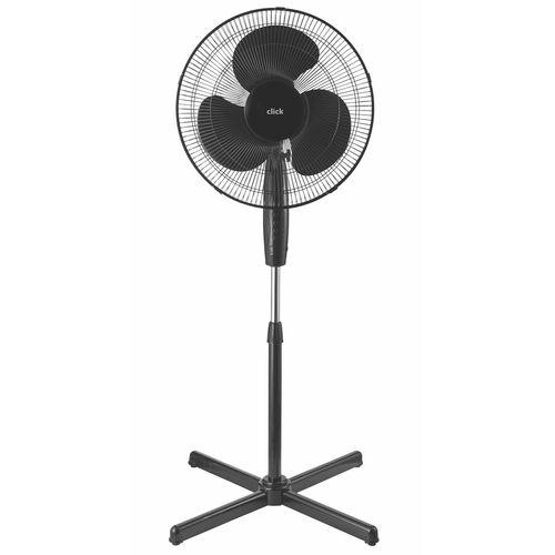 Click 40cm Black Pedestal Fan