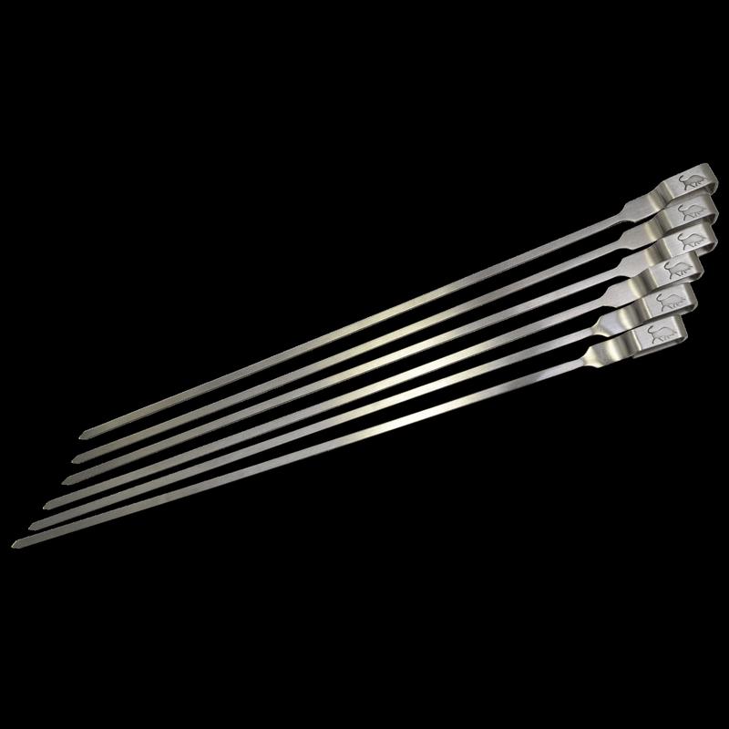 Stainless Steel Skewers - 6 Pack
