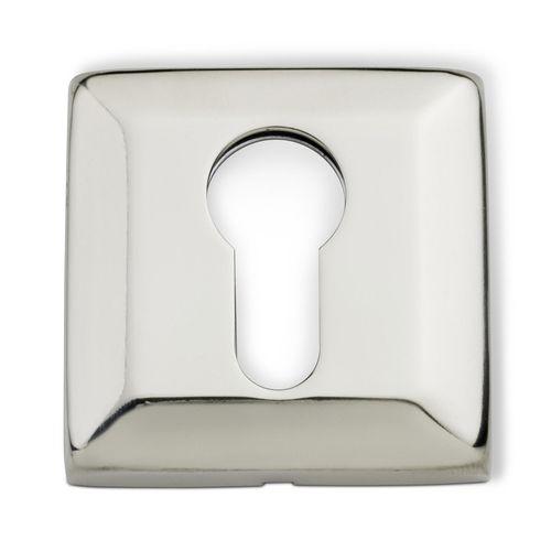 Lemaar 53mm Square Satin Stainless Steel Euro Escutcheon
