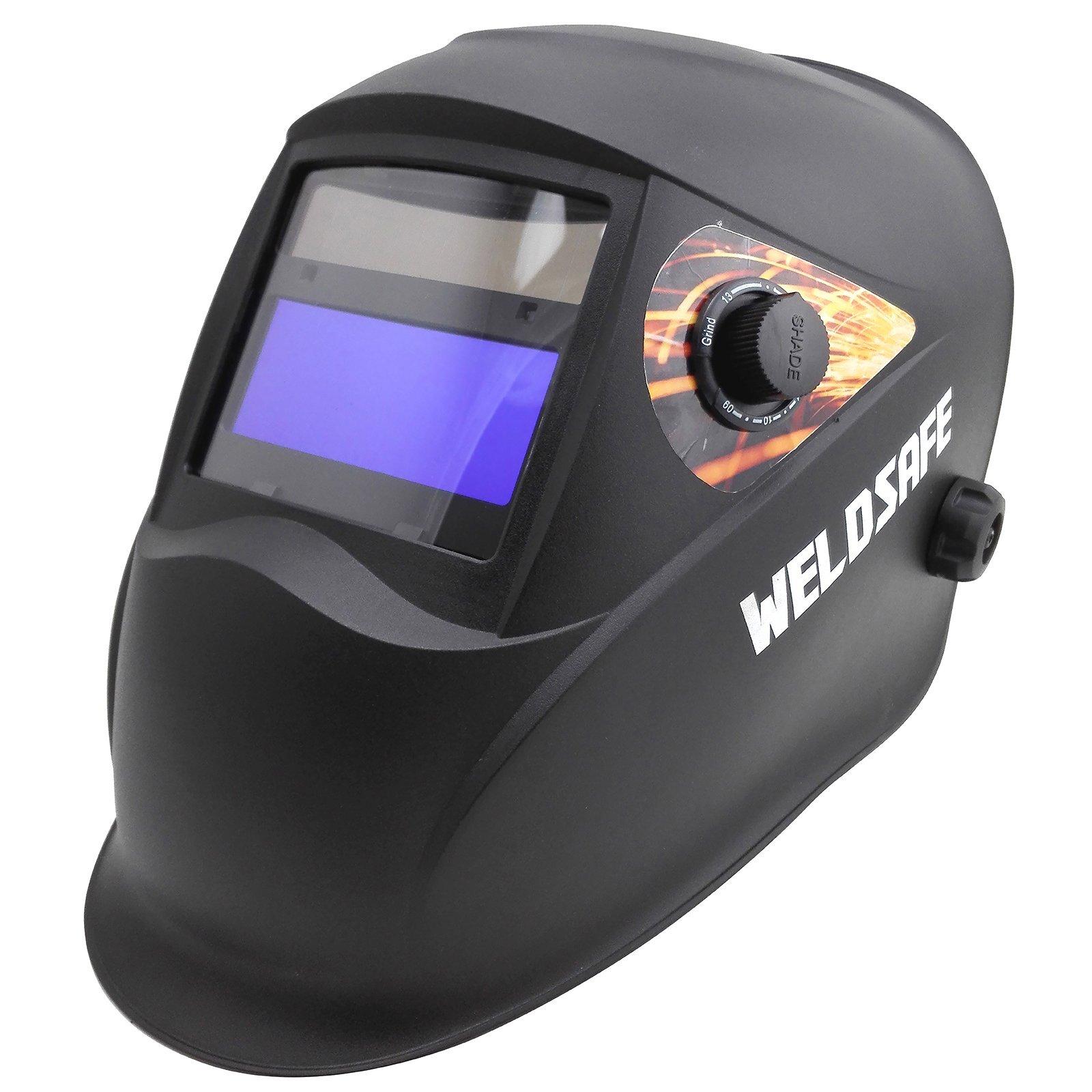 Weldsafe Black 9-13 Shade Gold Series Helmet
