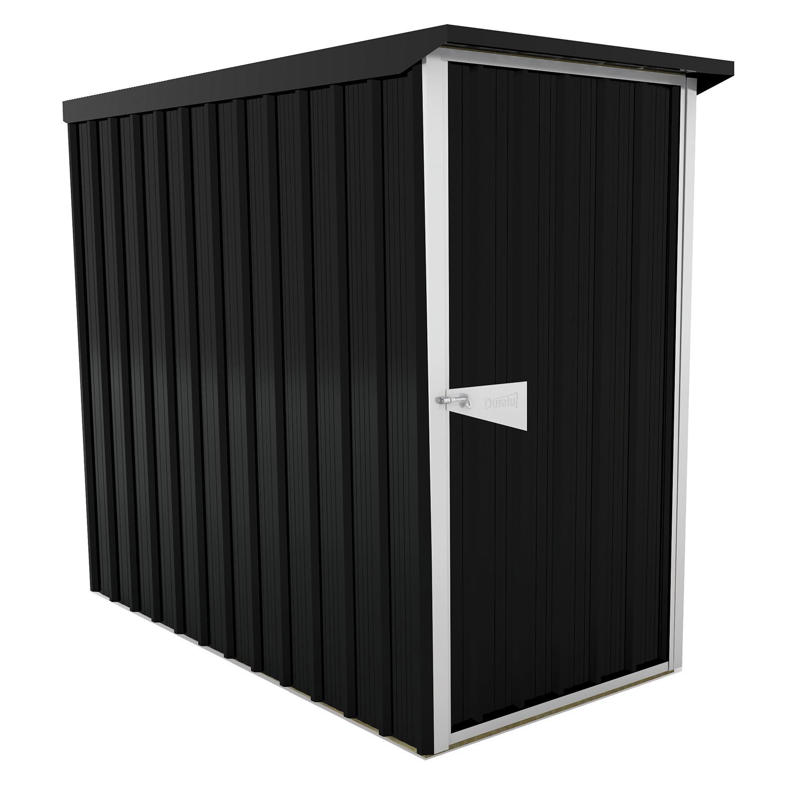 Duratuf Sentry 1.0 x 2.0m Ebony Lean-To Shed
