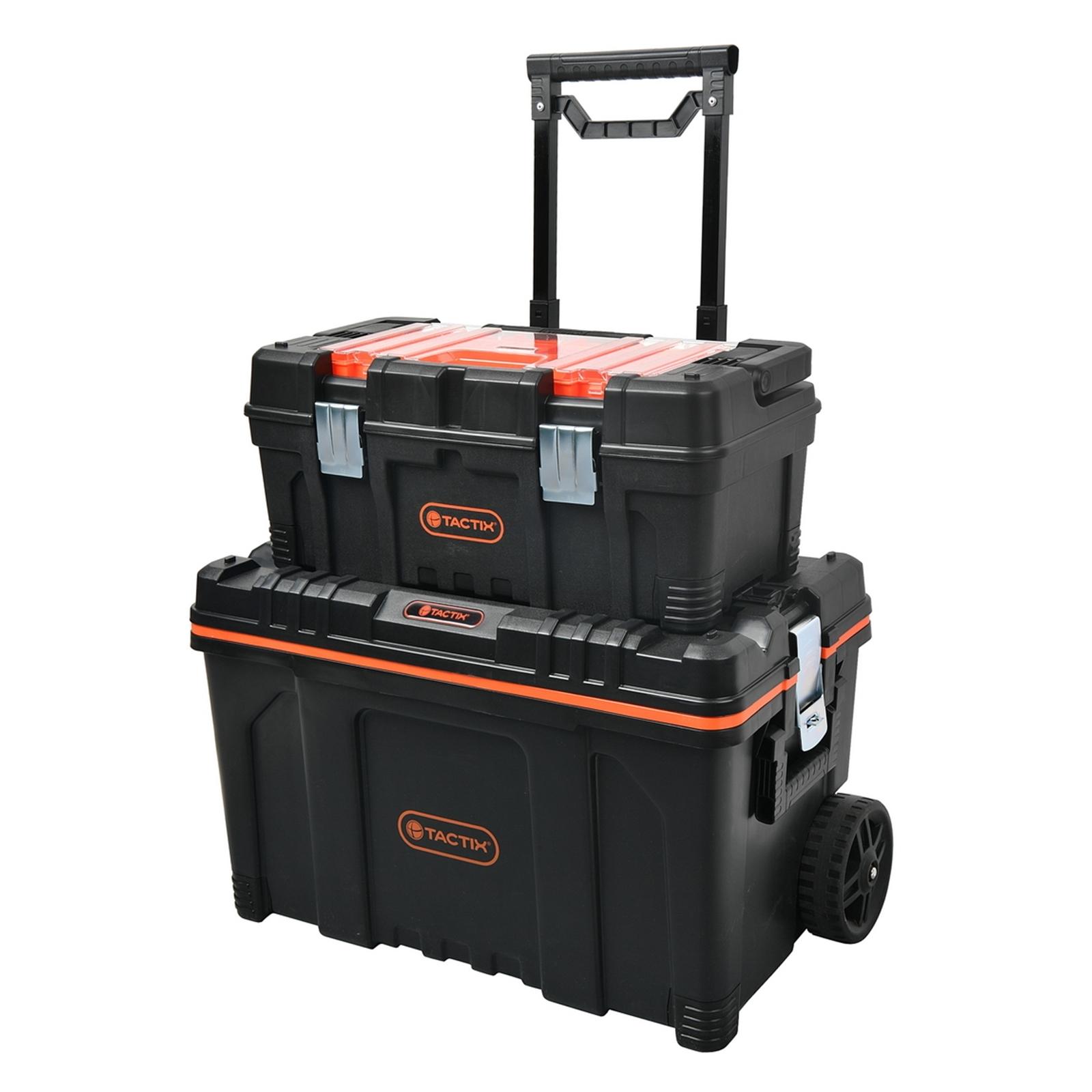 Tactix 2 In 1 Rolling Tool Box Set