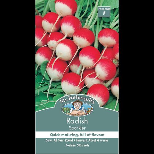 Mr Fothergill's  Sparkler Radish Vegetable Seeds