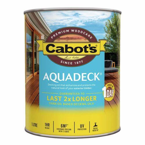 Cabot's 1L Waterbased Burnt Walnut Aquadeck Decking Oil