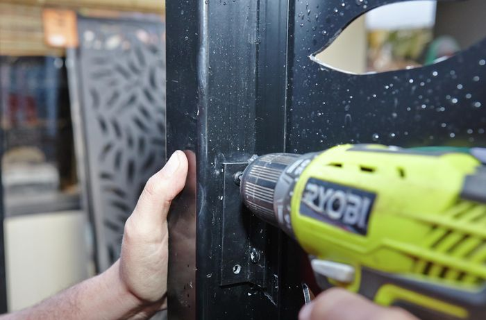 DIY Step Image - How to install an outdoor screen panel . Blob storage upload.