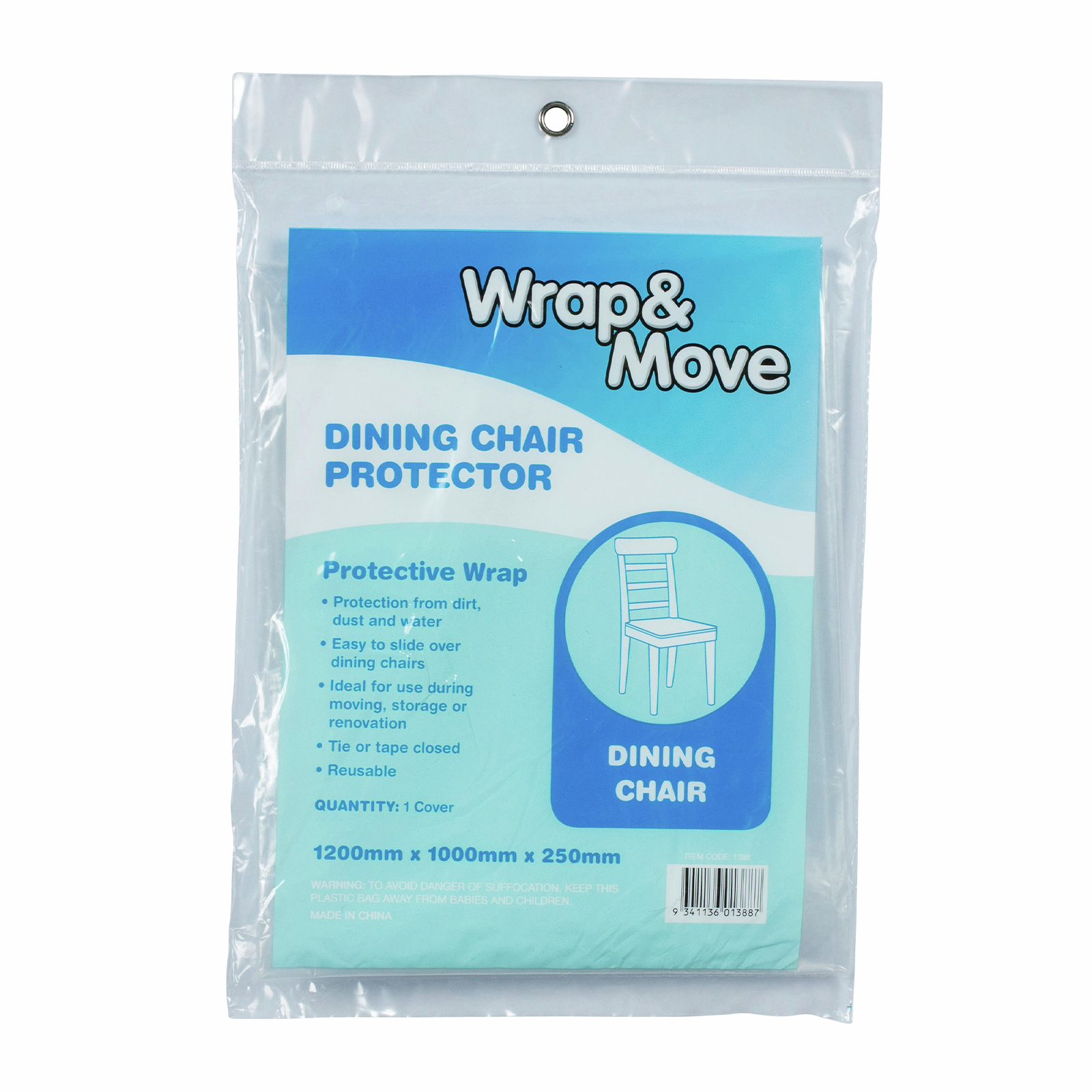 Wrap & Move Clear Dining Chair Protector