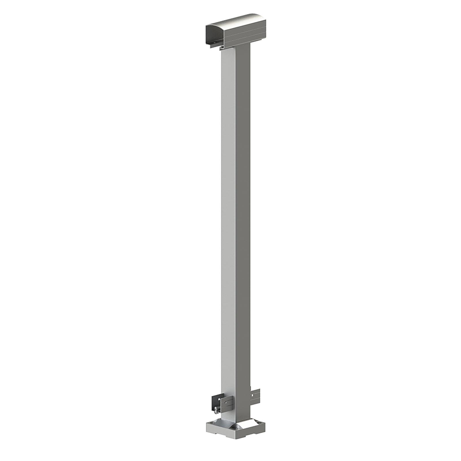 Peak Products 1000mm Silver Aluminium Balustrade Mid Post