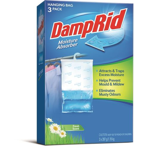 DampRid Hanging Fresh Fragrance Moisture Absorbers - 3 Pack