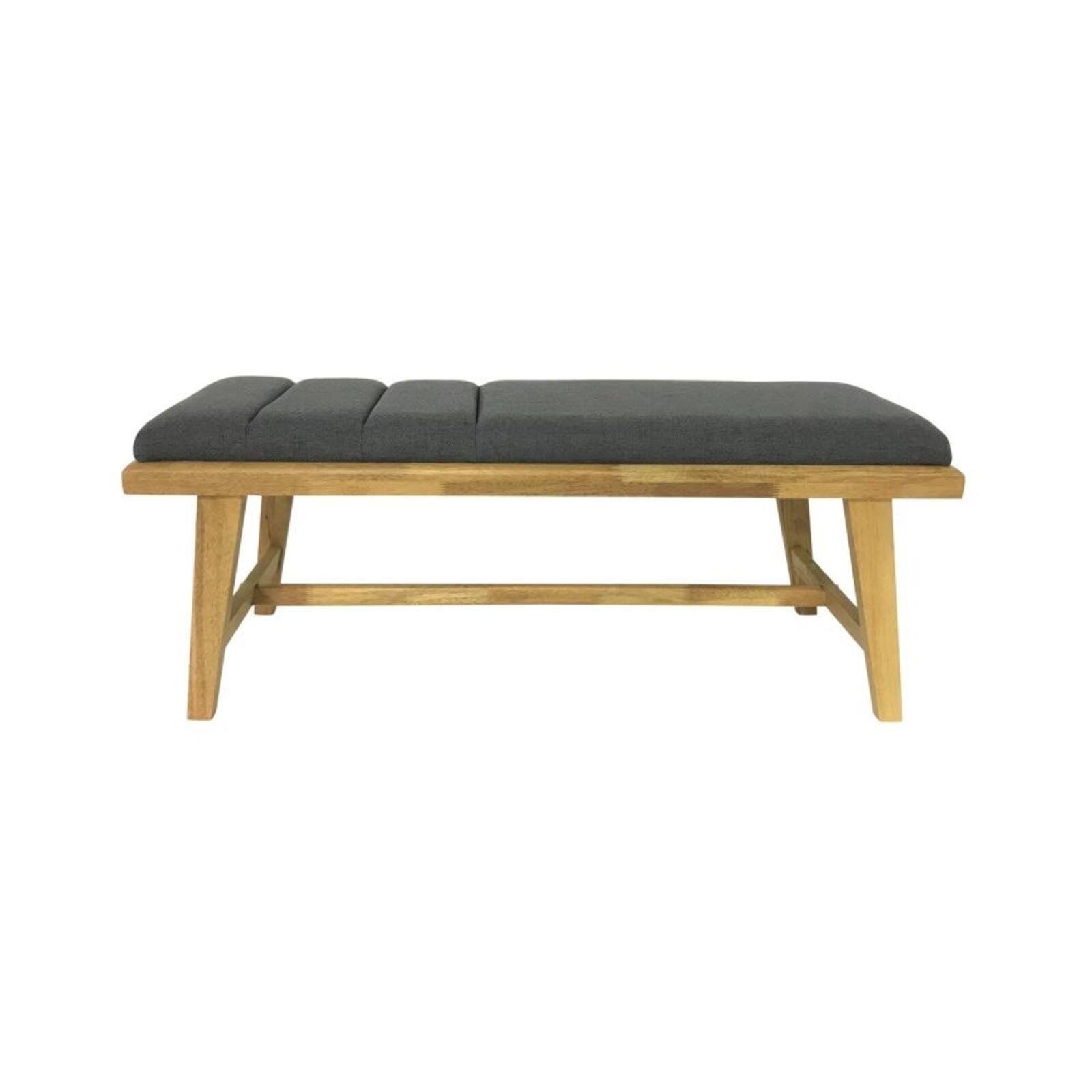 Malmo Scandinavian Fabric Dining Bench Wooden Frame - Grey
