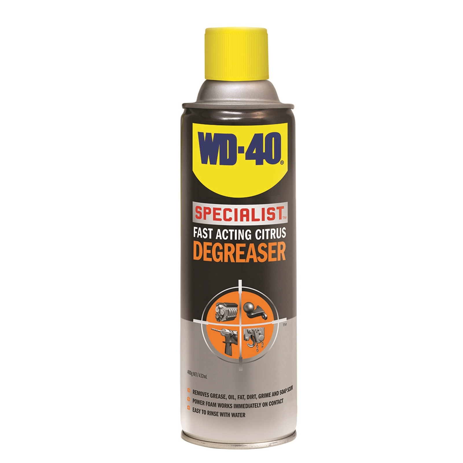WD-40 Specialist® Fast Acting Citrus Degreaser 400g Clear