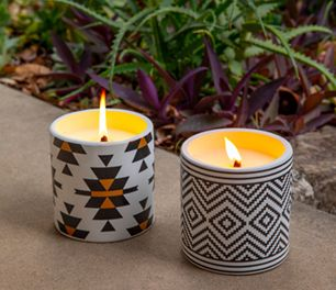 Two insect repellent candles
