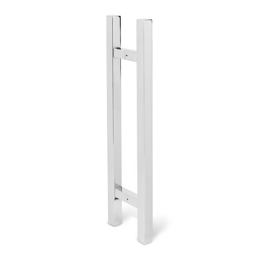 Lemaar 450 x 25mm Stainless Steel Back to Back Square Entry Handle Set