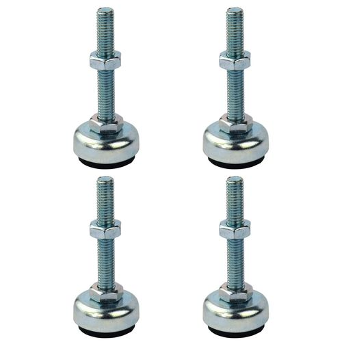 Richmond 50mm x M8 Steel Fixed Levelling Feet - 4 Pack