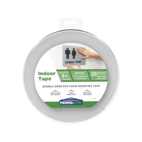 Permastik 20m x 12mm Indoor Mounting Tape