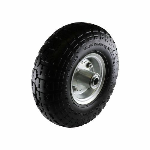 """Move It 5/8"""" Axle 3.5 x 4"""" Pneumatic Steel Trolley Wheel"""