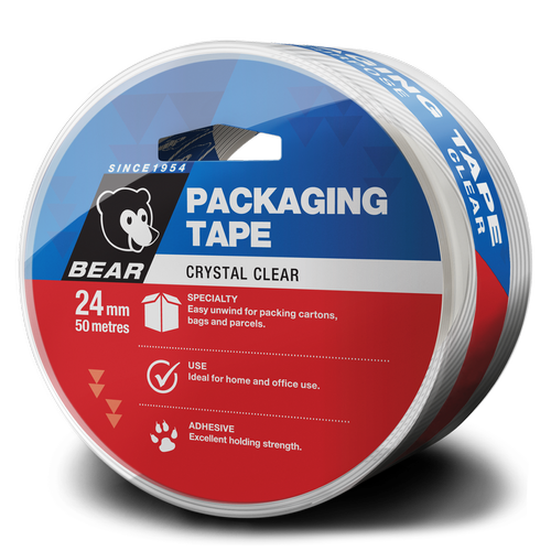Bear Packaging Tape 24mmx50m Clear