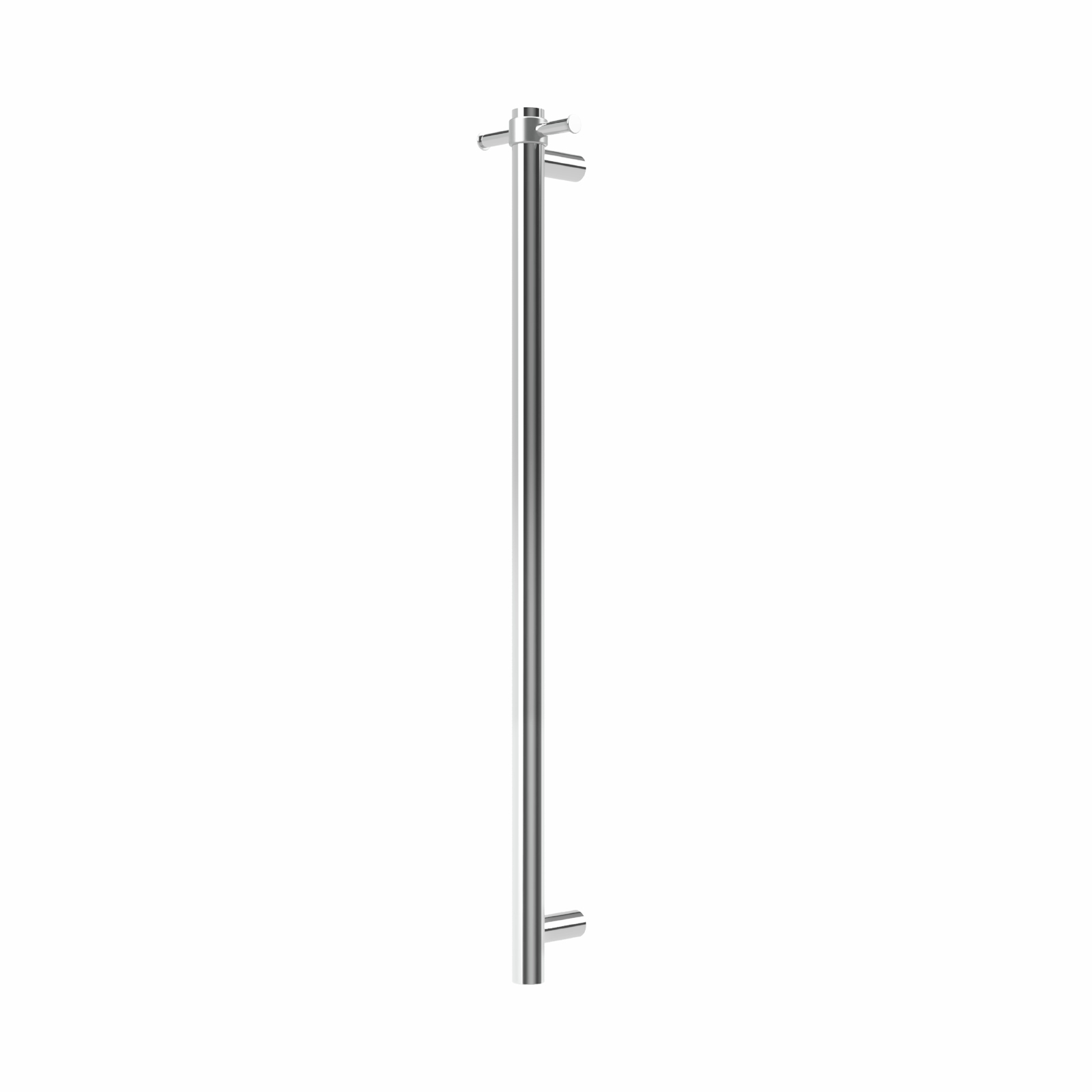 Forme Vertical 1 Bar Round Polished Stainless Steel Heated Rail