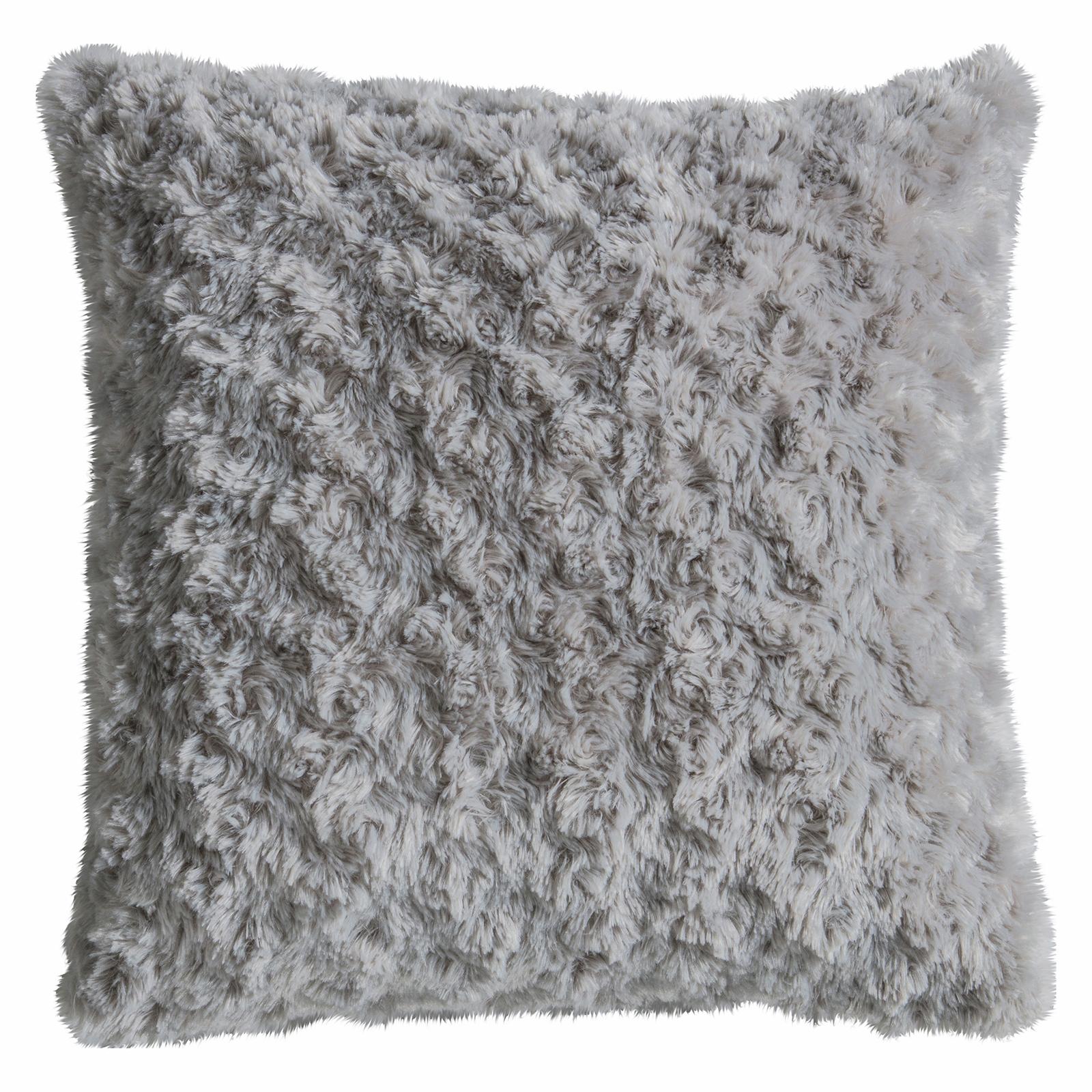 Southlander Faux Fur 450 x 450mm Mid Grey Cushion