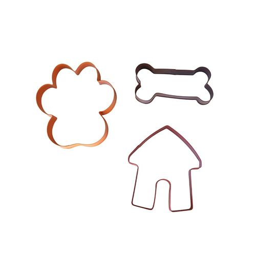 Soffritto Professional Bake 3 Piece Cookie Cutter Set Dog