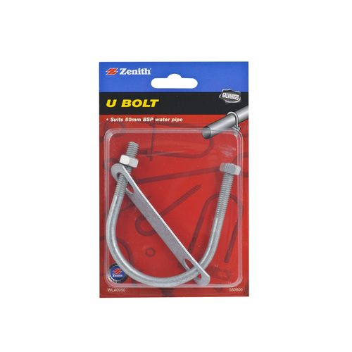 Zenith 50mm Galvanised U Bolt