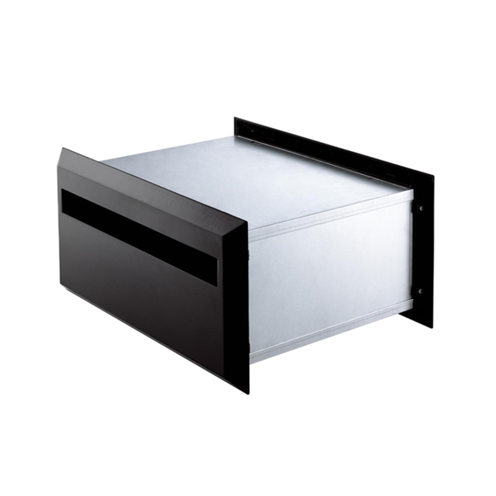 Sandleford 350mm Black Brickies Back Open Letterbox