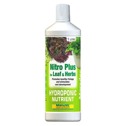 Manutec 1L Hydroponic Nitro Plus For Leaf And Herb
