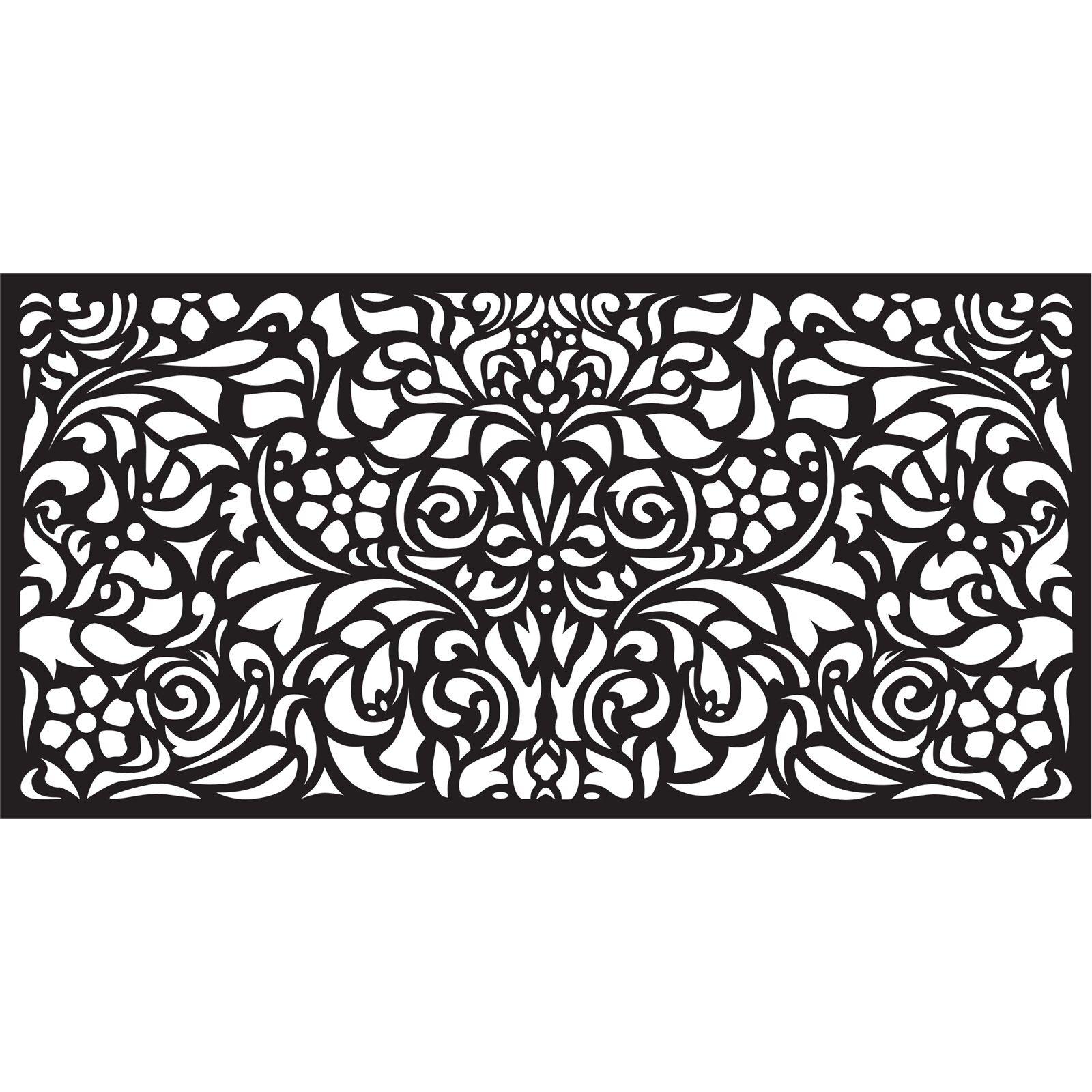 Matrix 1160 x 580mm Charcoal Baroque Wall Art