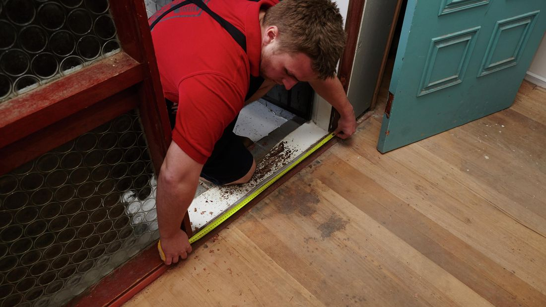 DIY Step Image - How to measure door size for replacement . Blob storage upload.