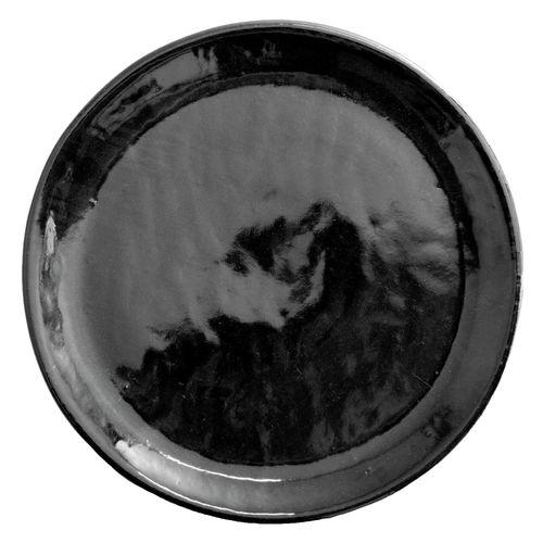 Northcote Pottery 35cm Black Round Jardin Saucer