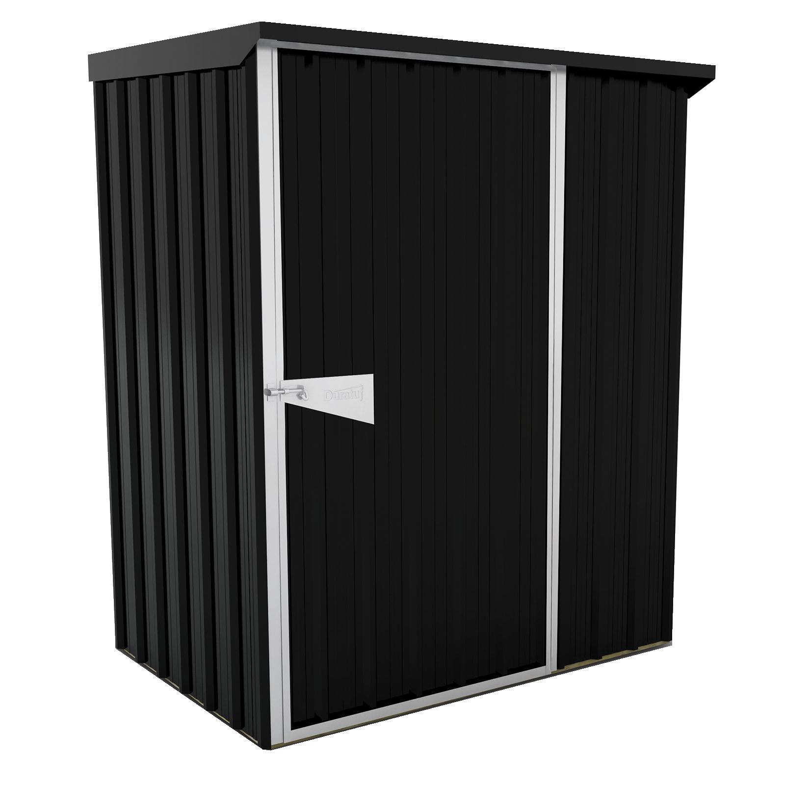 Duratuf Sentry 1.5 x 1.0m Ebony Lean-To Shed
