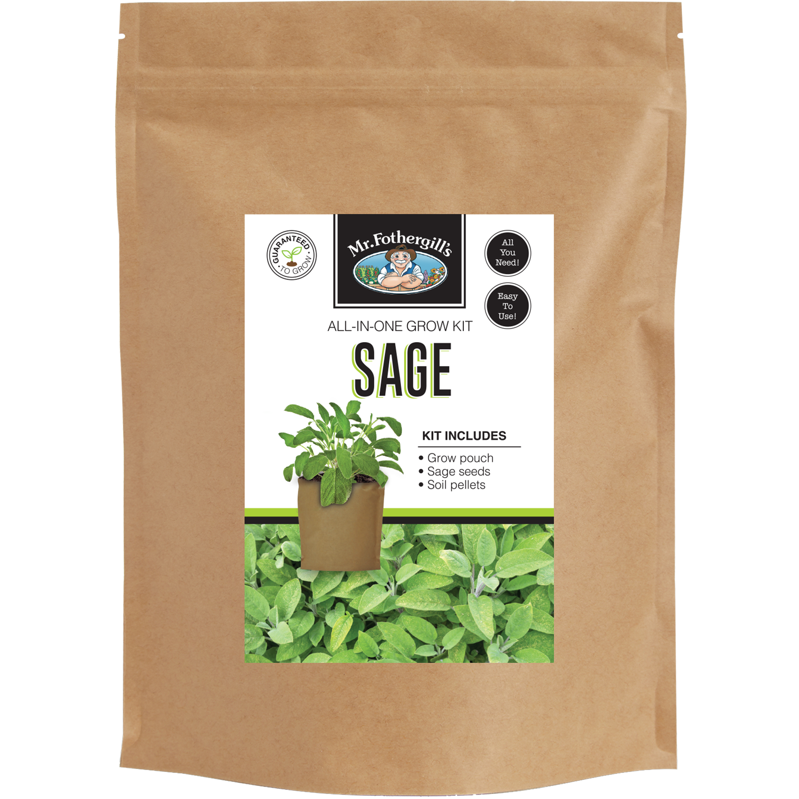 Mr Fothergill's Sage Grow Pouch Bag