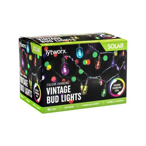 Lytworx 50 Solar Colour Change LED Vintage Bud Lights
