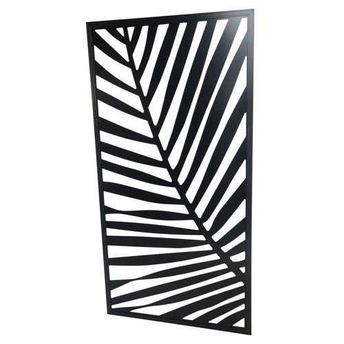 1200 x 2400mm ACP Palm Decorative Panel Unframed - Satin Black