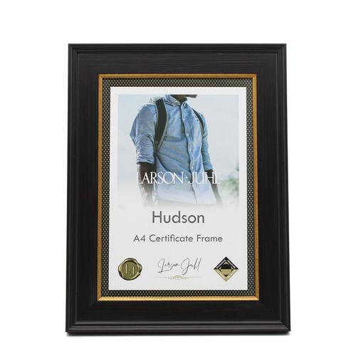 Hudson A4 Dark Chocolate Wide Certificate Frame