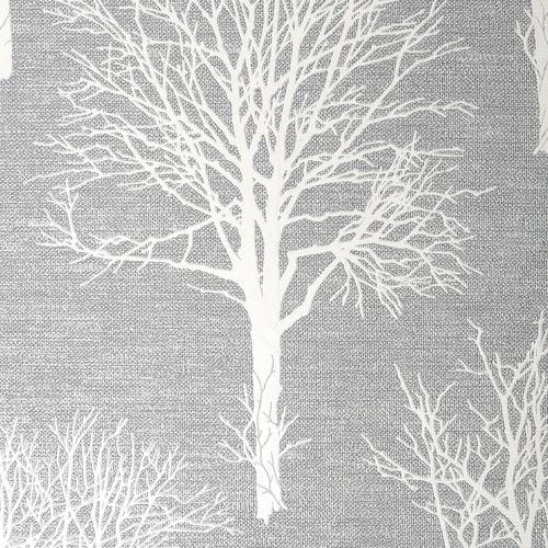 Boutique 1/2m Landscape Dove Grey  Wallpaper Sample